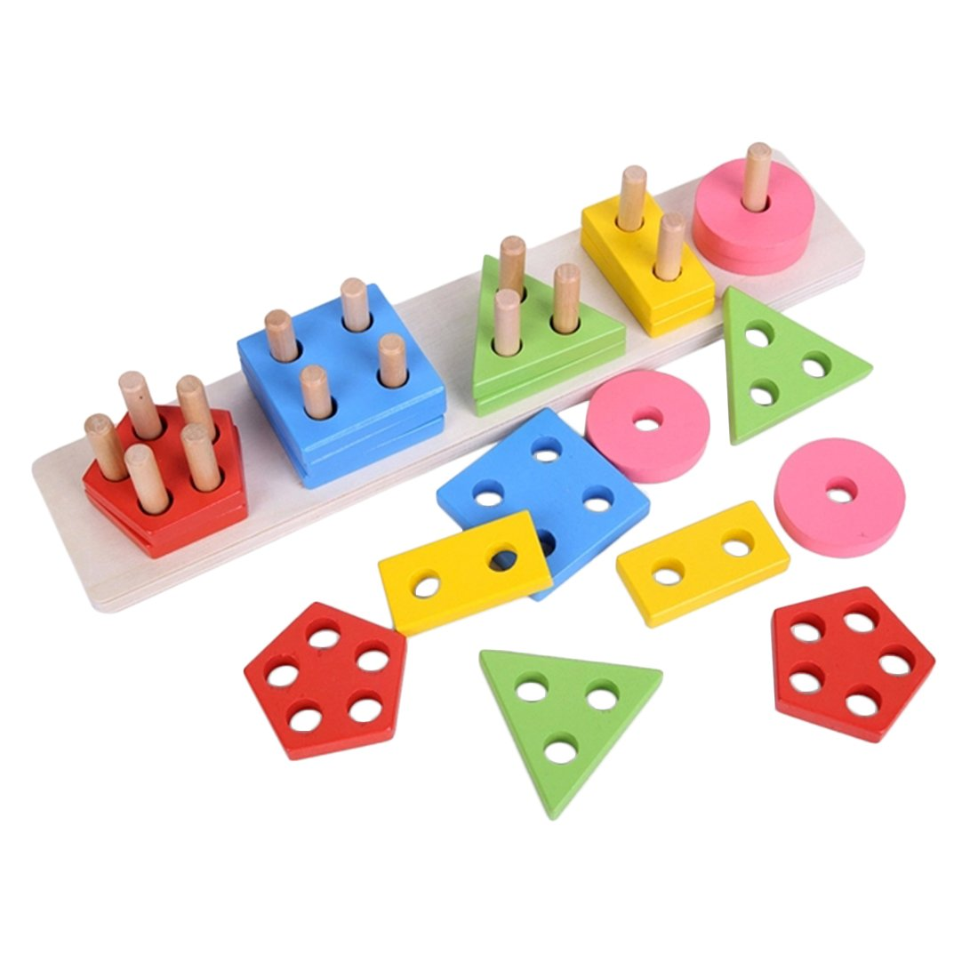 geomatric shape 5 column blocks