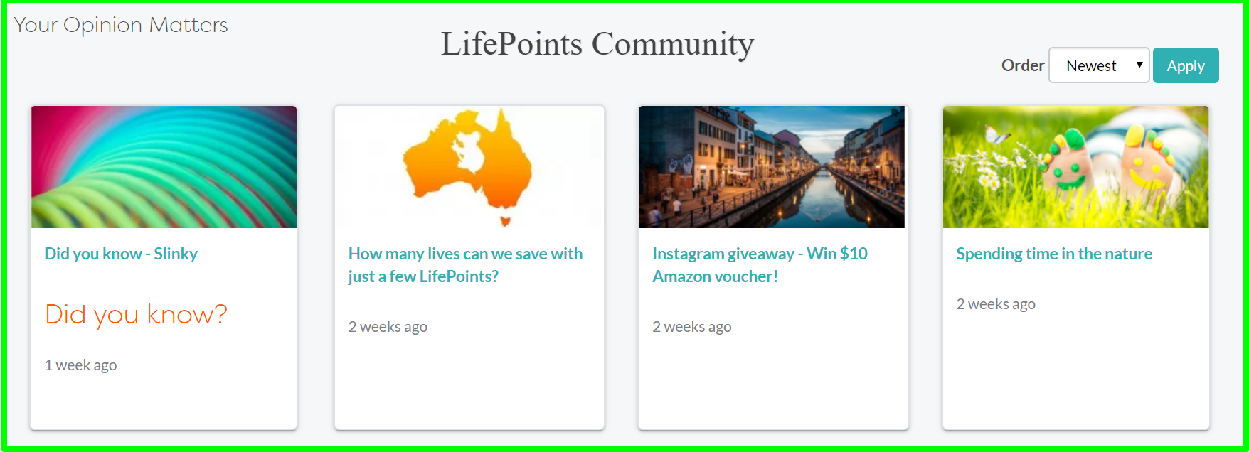 community life points