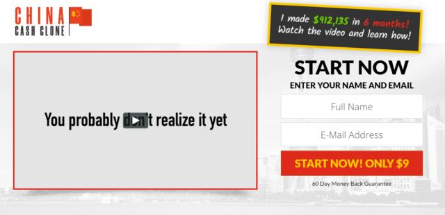 china cash clone homepage