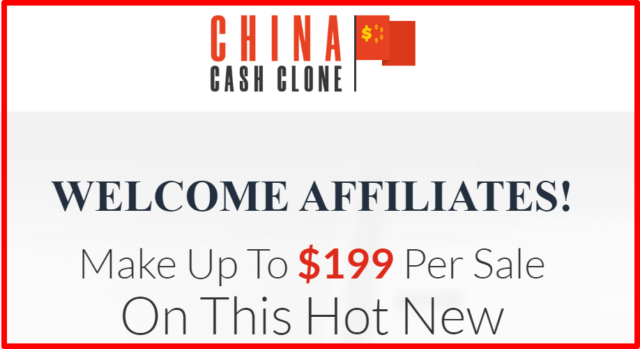 affiliate commission for china cash clone