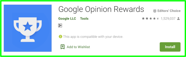 google opinion rewards app review