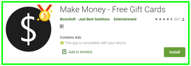 Make Money free gift cards review
