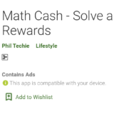 math cash review