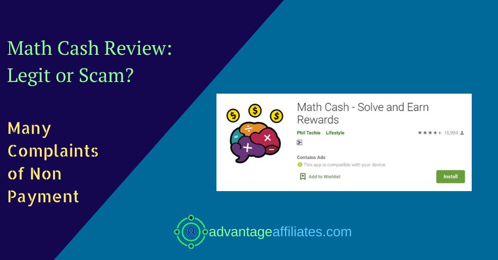 review of math cash