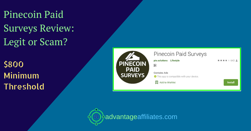 review of pinecoin paid surveys