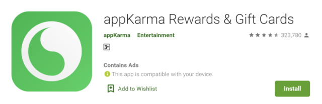 app karma rewards gift cards review