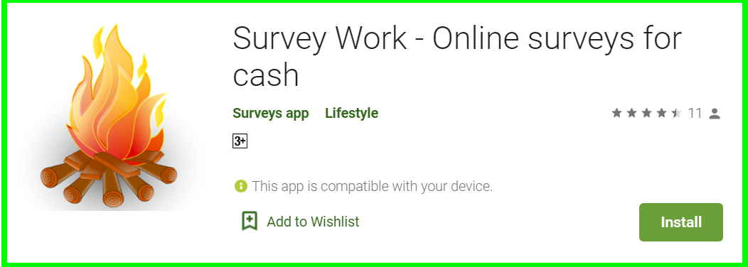surveys work app review homepage