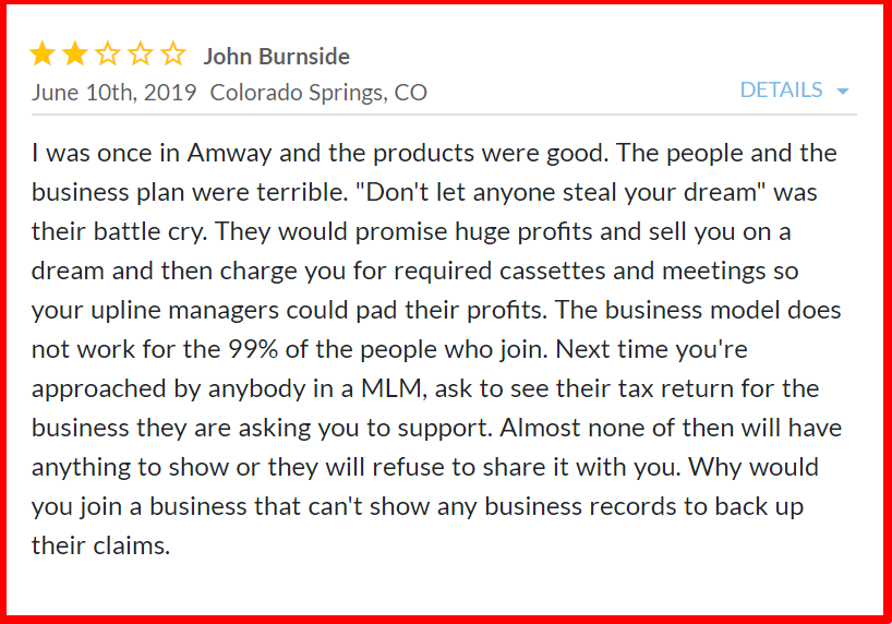 amway mlm review- complaints