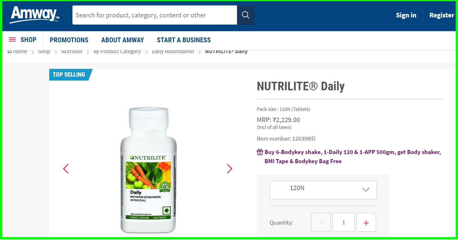 amway mlm review expensive NUTRILITE® Daily