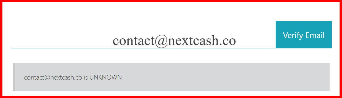 fake Email - nextcash review