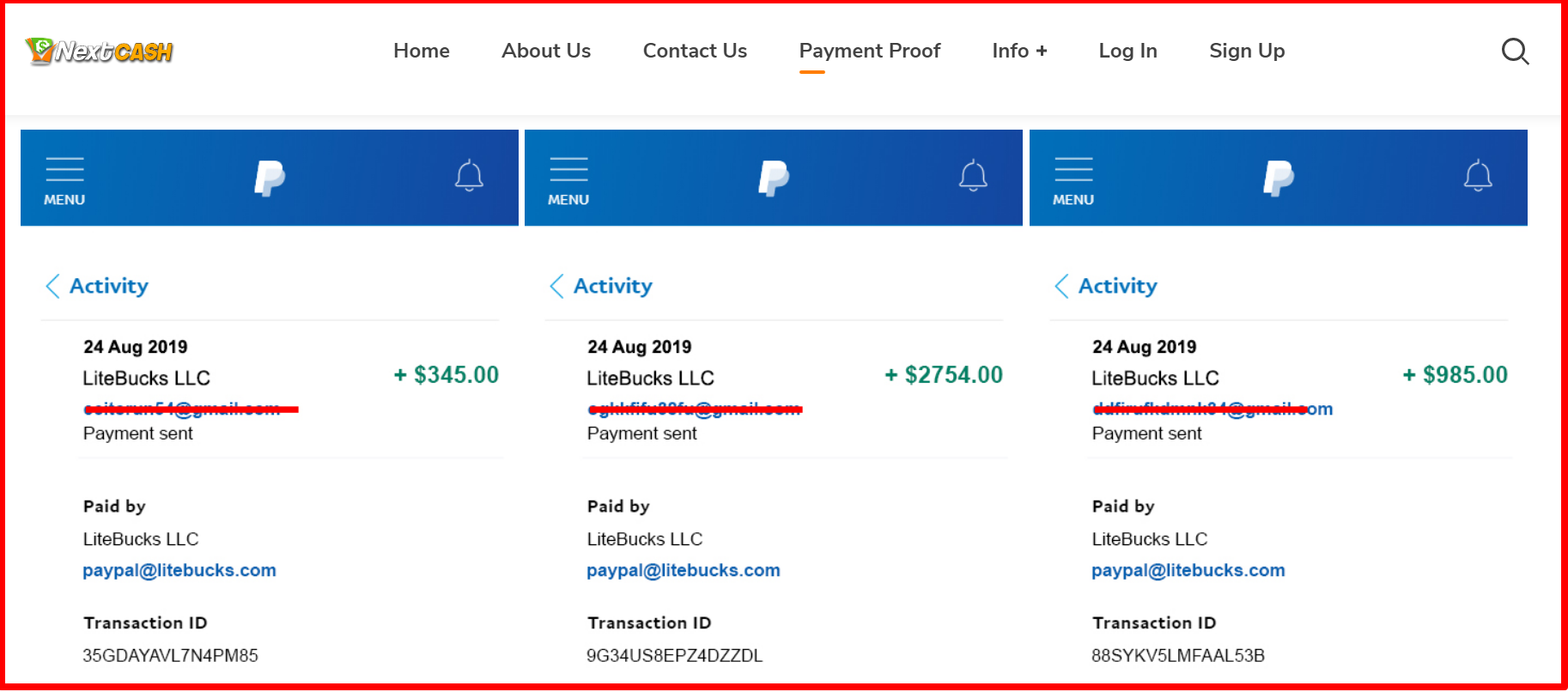 fake Payment Proof – NextCash Review