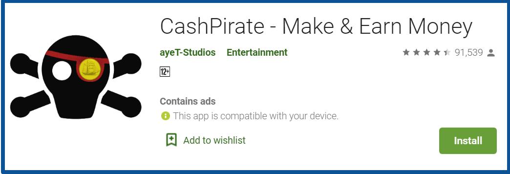 CashPirate review-google play