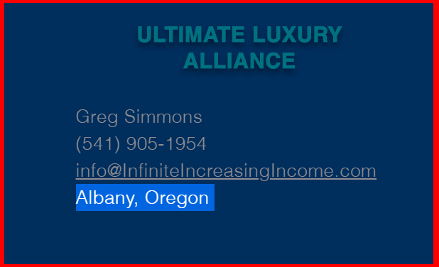 Infinite Increasing Income review-contact