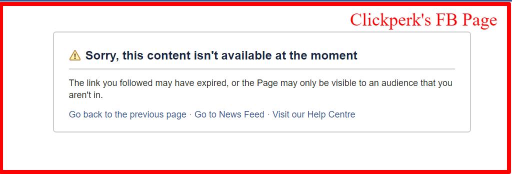 clickperk review- Facebook