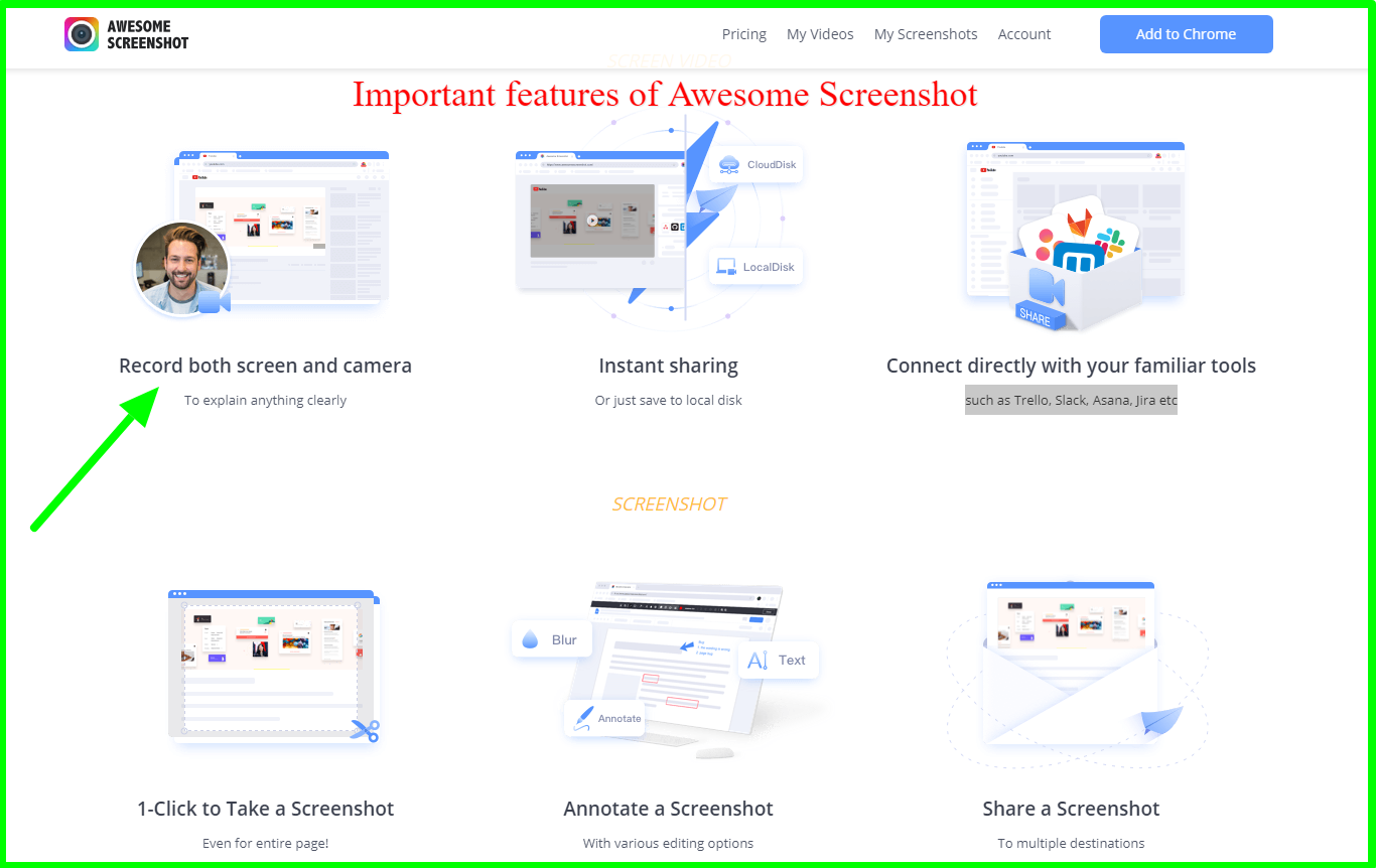 implementing screenshots for your content -Awesome Screenshot