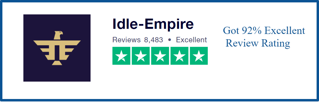 review idle empire-excellent rating on trustpilot