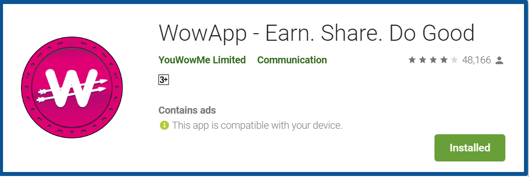 wowapp review- homepage google play