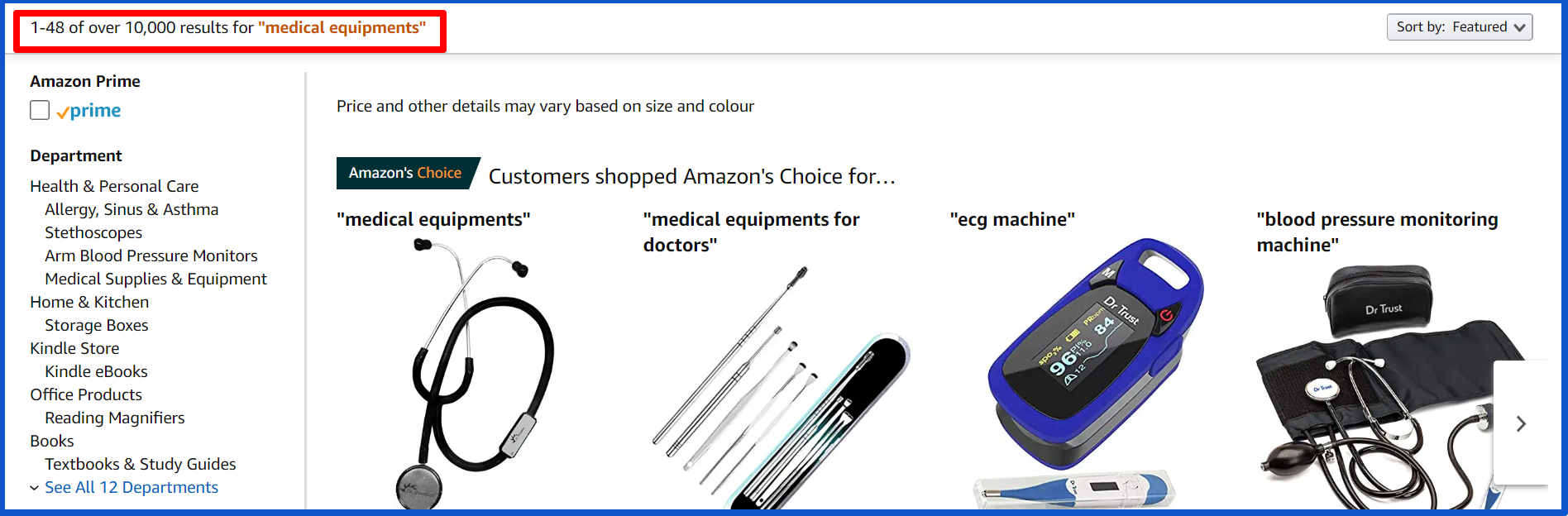 create thriving business during crisis-amazon medical equipments