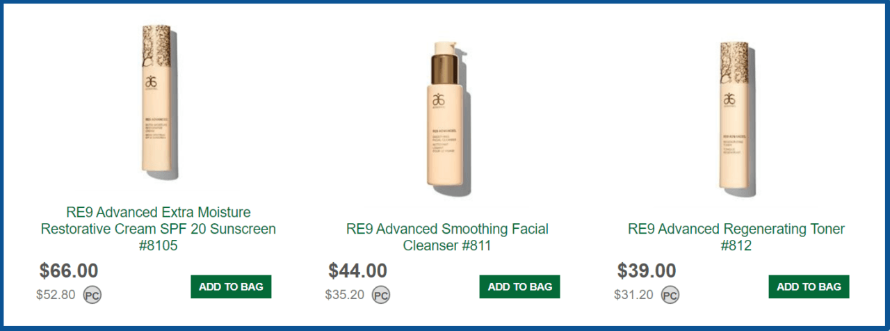 Arbonne Review-products