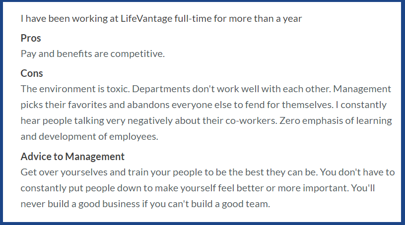LifeVantage_Reviews_complaints on forums