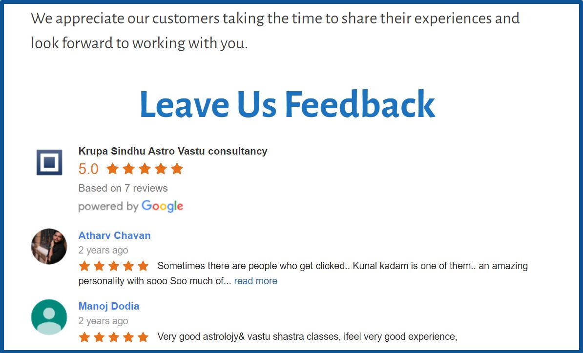 Reviews_krupa_Sindhu_Astro_Vastu_Consultancy