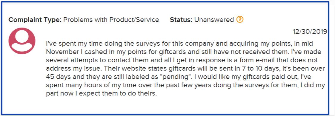 creations rewards review- bbb complaints