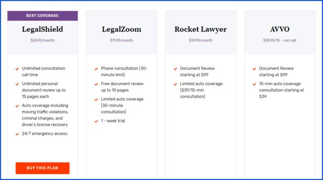 legalshield review-different plans
