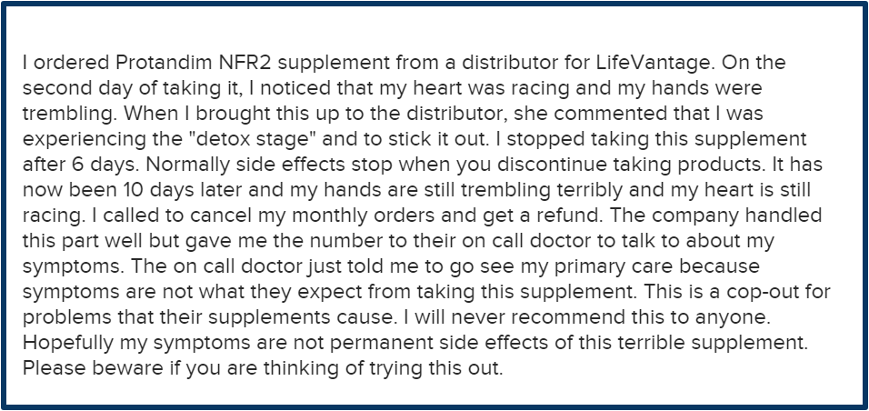 lifevantage review-health problems by taking nfr2