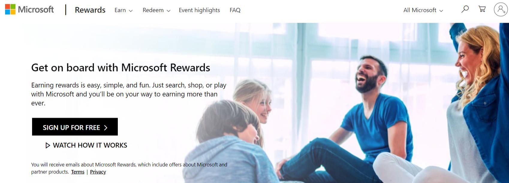 microsoft rewards review-homepage