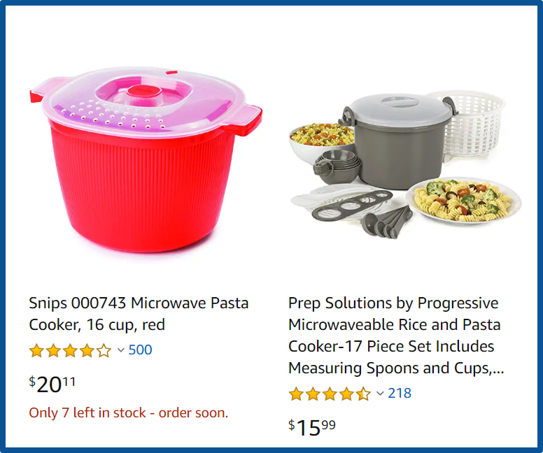 pamperedchef review-pasta cooker on Amazon
