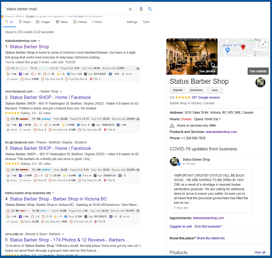 understanding local citations_status_barber_shop_Google_Search