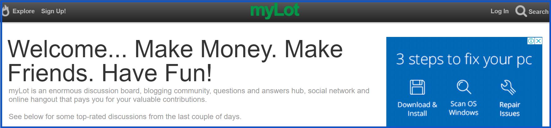 myLot_homepage_