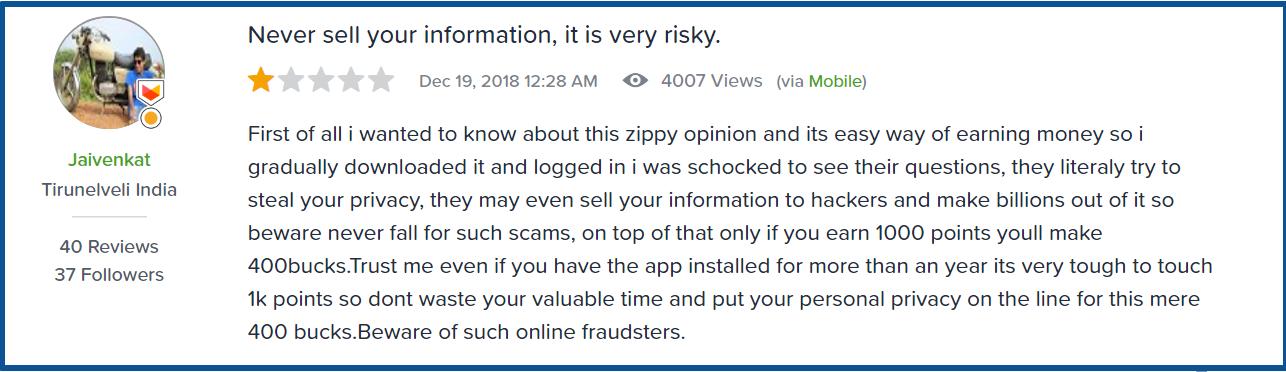 zippy opinion review-complaints
