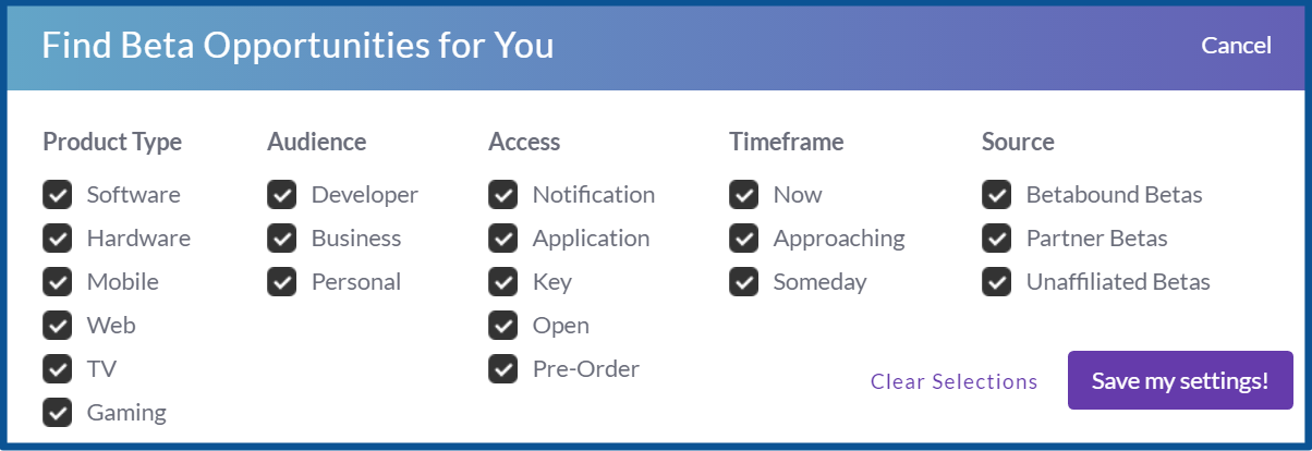 Betabound_review_personalize beta offers