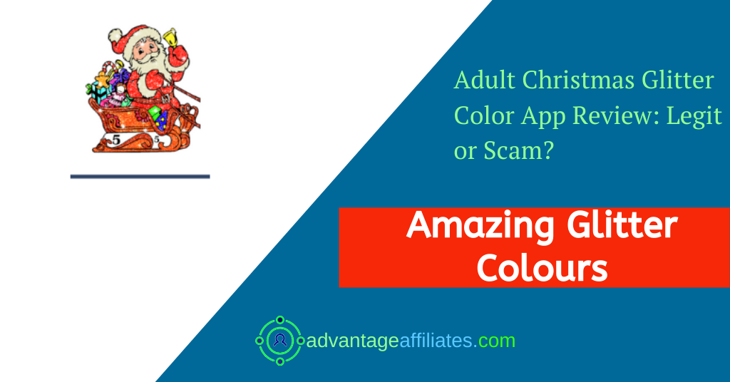 Adult Christmas Glitter Color App App Review-Feature Image