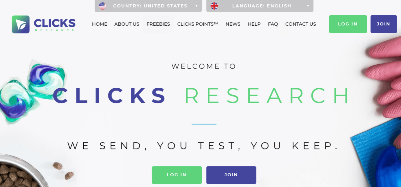 Clicks-Research-review-homepage