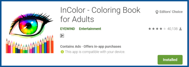 InColor-Coloring Book App-homepage