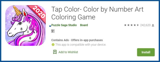 tap color app review