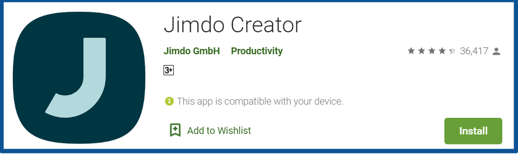 Top Blogging Apps-Jimdo-Creator-Apps-on-Google-Play