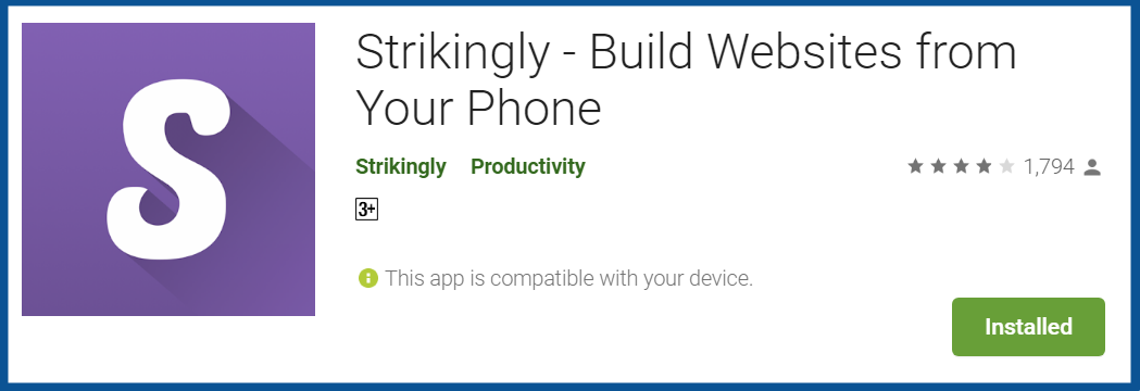 Top Blogging Apps- Strikingly-–-Apps-on-Google-Play