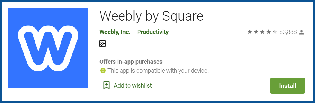 Top blogging apps-Weebly-review–-Apps-on-Google-Play