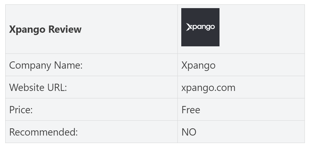 xpango review-summary-