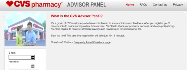 CVS Advisor Panel review-homepage