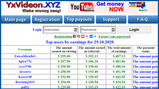 review-yxvideon-xyz-top payouts