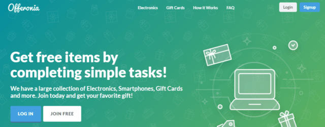 Offeronia-Complete-tasks-earn-points-and-get-free-items