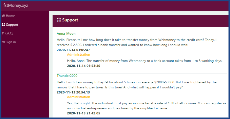 The-site-of-paid-watching-ads-fstmoney-xyz-Support