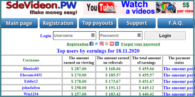 sdevideon-pw-top earners