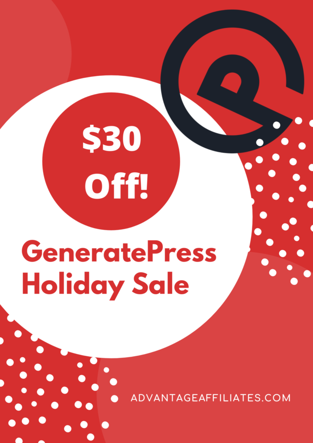 GeneratePress Holiday Sale