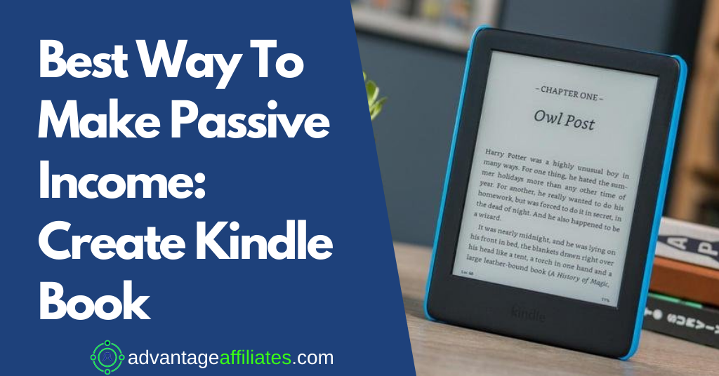 Feature Image-Best Way To Make Passive Income-Create Kindle Book