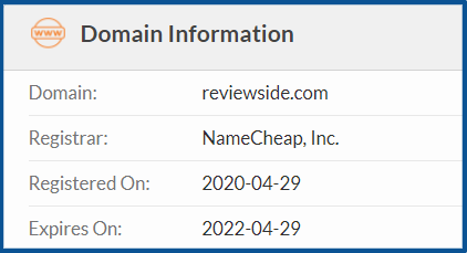 Whois reviewside